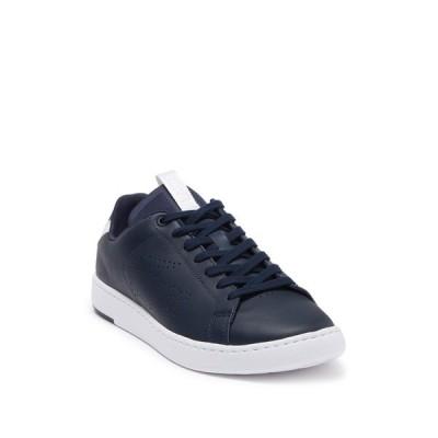 ラコステ メンズ スニーカー シューズ Carnaby Evo Leather Sneaker NAVY/WHITE