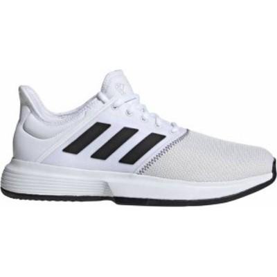 アディダス メンズ スニーカー シューズ adidas Men's GameCourt Tennis Shoes White/Black/Gray