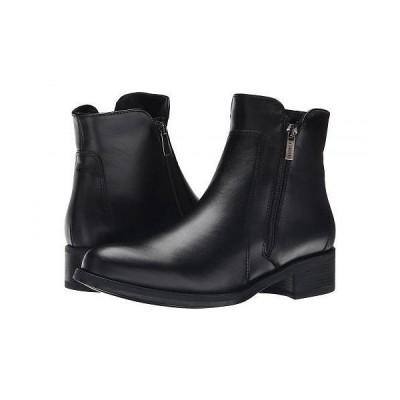 La Canadienne ラカナディアン レディース 女性用 シューズ 靴 ブーツ アンクルブーツ ショート Saria - Black Leather