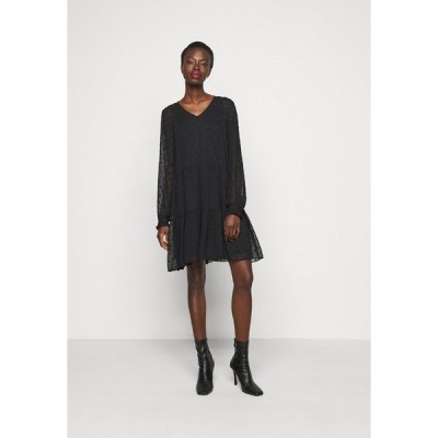 ピーシーズ トール ワンピース レディース トップス PCNUTSI DRESS - Day dress - black