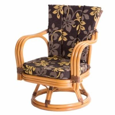ラタン 回転椅子 ミドルタイプ 座面高さ30cm GNM17M