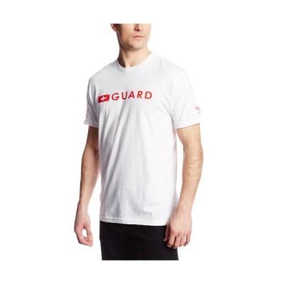 Speedoメンズガード半袖Tシャツ L ホワイト