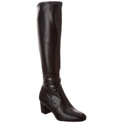 スチュアート ワイツマン ブーツ&レインブーツ シューズ レディース Stuart Weitzman Frannie 60 Leather Boot black leather