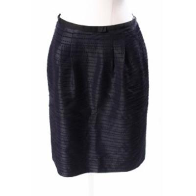 【中古】トッカ TOCCA ボーダー調 刺繍 スカート ahm0403 レディース