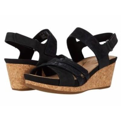 Clarks クラークス レディース 女性用 シューズ 靴 ヒール Un Capri Walk Black Nubuck/Leather Combi【送料無料】