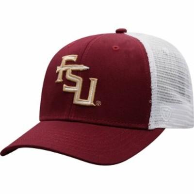 トップオブザワールド Top of the World メンズ キャップ 帽子 Florida State Seminoles Garnet/White BB Two-Tone Adjustable Hat