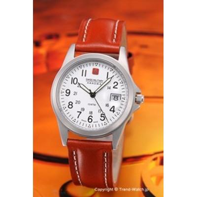 スイスミリタリー 腕時計 メンズ ML-2 (ML2) SWISSMILITARY HANOWA クラシック ホワイト/ブラウンレザー