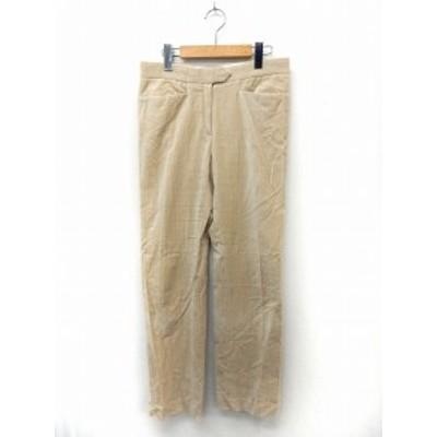 【中古】ジョセフ JOSEPH パンツ ロング ストライプ ジップフライ ポケット 36 ベージュ /ST52 レディース
