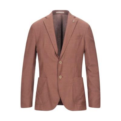 パオローニ PAOLONI テーラードジャケット ブラウン 54 バージンウール 100% テーラードジャケット