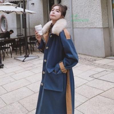 中綿コート レディース ロングコート ダウン コットン 裏起毛 アウタ 韓ファッション フード付き 大きいサイズ 春秋冬 厚手 防寒着 暖か