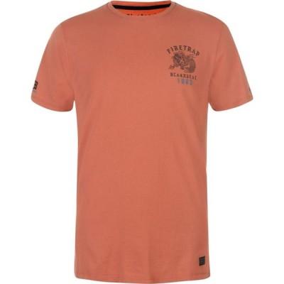 ファイヤートラップ Firetrap メンズ Tシャツ トップス Blackseal Dragon T Shirt Baked Clay