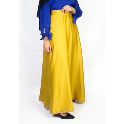 Zaryluq レディース ロング・マキシ丈スカート スカート High Waist Maxi Skirt In Trinket Gold Trinket Gold