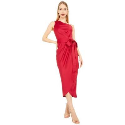 テッドベーカー ユニセックス スカート ドレス Gabie One Shoulder Drape Midi Dress