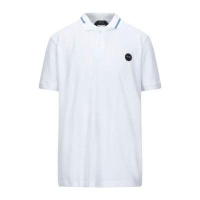 ヌメロ ヴェントゥーノ N°21 ポロシャツ ホワイト XXS コットン 100% ポロシャツ