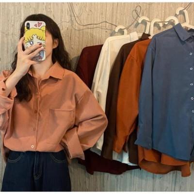 シャツ ブラウス トップス 可愛い 大人っぽい 大人 上品 カジュアル シンプル ベーシック ゆったり 30代 40代 ブラウン ピンク