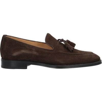 バルバ BARBA Napoli メンズ ローファー シューズ・靴 Loafers Dark brown