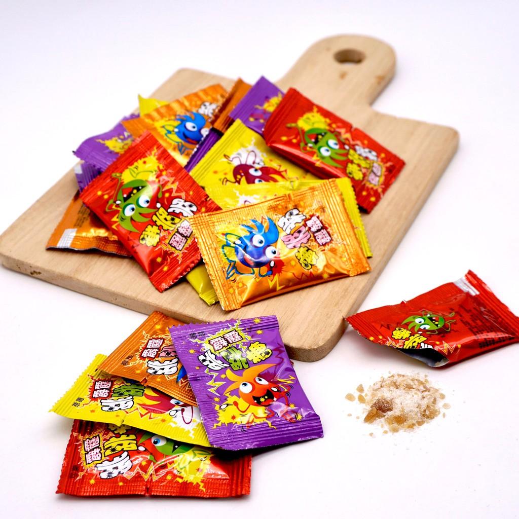 【嘴甜甜】霹靂跳跳糖 50公克 包裝糖果系列 水果口味 純素