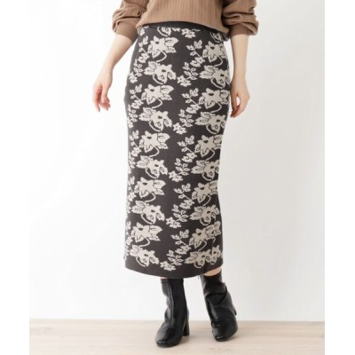 WORLD ONLINE STORE SELECT / ダマスク柄ニットスカート WOMEN スカート > スカート