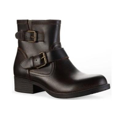サンアンドプラスストーン レディース ブーツ&レインブーツ シューズ Amberr Leather Booties, Created for Macy's Chocolate Leather