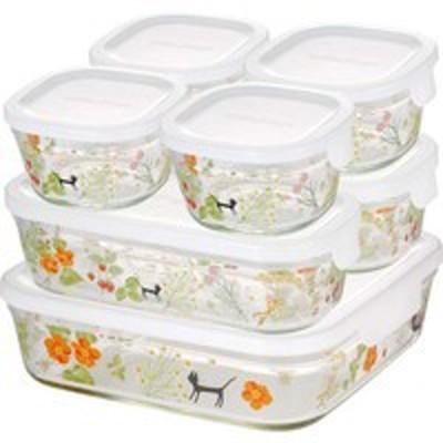 単品販売 iwaki シンジカトウ パック & レンジ システムセット colorful herbs PS-PRNSNB7 1セット [代引選択不可]