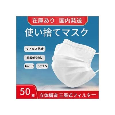 100枚 マスク使い捨て ウィルス不織布マスク花粉症対応 抗菌 ホワイト 白 フィルター ボックス ますく夏 三層構造 男女兼用 大人用送料無料