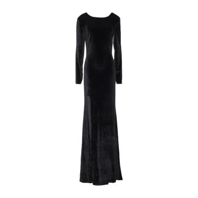 NLY EVE ロングワンピース&ドレス ブラック S ポリエステル 100% ロングワンピース&ドレス