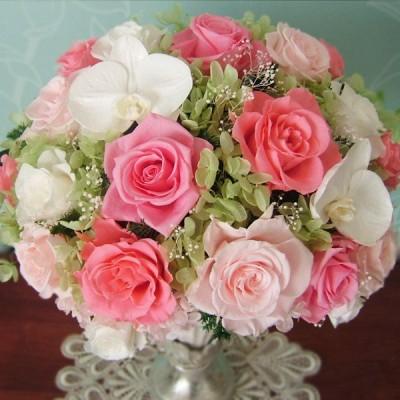 プリザーブドフラワーギフト 胡蝶蘭 /ふらわーぱれっと 誕生日 結婚 新築 記念日 還暦 古希 米寿 内祝い プレゼント 退職