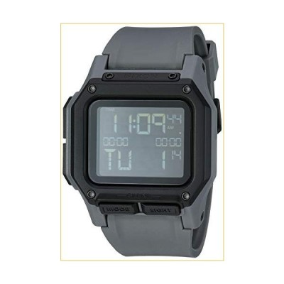 NIXON Regulus A1180 - All Gunmetal - 100m Water Resistant Men's Digital Sport Watch (46mm Watch Face, 29mm-24mm Pu/Rubber/Silicone Band) 並行輸入