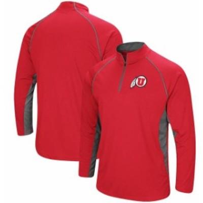 Colosseum コロセウム スポーツ用品  Colosseum Utah Utes Red Quarter-Zip Windshirt