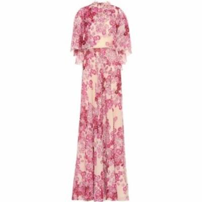 ジャンバティスタ バリ Giambattista Valli レディース パーティードレス ワンピース・ドレス floral silk gown Blush-Raspberry