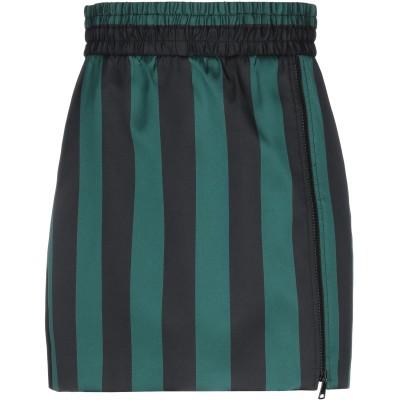 ヌメロ ヴェントゥーノ N°21 ミニスカート ダークグリーン 38 ポリエステル 88% / シルク 12% ミニスカート