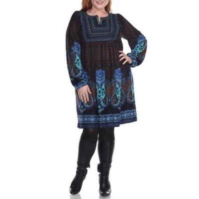 ホワイトマーク レディース ワンピース トップス Plus Size Phebe Dress