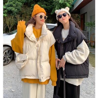 ベスト レディース服 女性 秋冬 暖かい 綿ベスト トップス コート チョッキ 綿ベスト ノースリーブ ロング丈 帽子