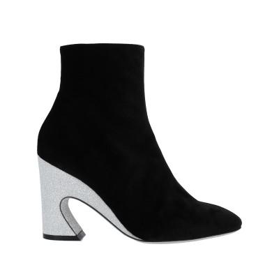 GIANNICO ショートブーツ ブラック 39.5 紡績繊維 ショートブーツ
