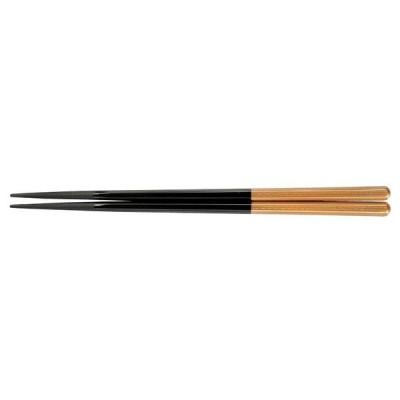 PBT六角箸(10膳入) 黒/金 90030715
