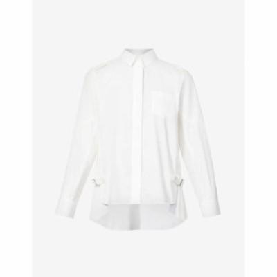サカイ SACAI レディース ブラウス・シャツ トップス Pleated woven shirt WHITE