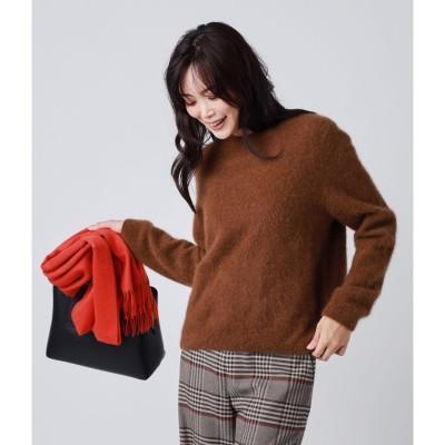 ニューヨーカー NEWYORKER 【Hug Me Knit】ラクーンニットプルオーバー (ブラウン)