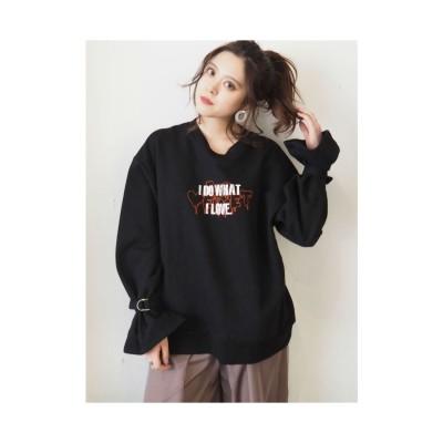 EVRIS ロゴスウェットPO【Red Velvetコラボ】(ブラック)