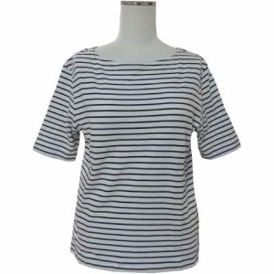 美品 lovelivelife ラブライブライフ「M」マリンボーダーカットソー (半袖Tシャツ) 086124【中古】