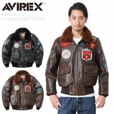 AVIREX アビレックス 6181013 G-1フライトジャケット TOP GUN【Cx】|メンズ アウター 革ジャン ミリタリージャケット レザージャケット