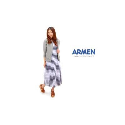 ARMEN アーメン レディース ボートネックノースリーブワンピース(NLA1303)(BASIC)
