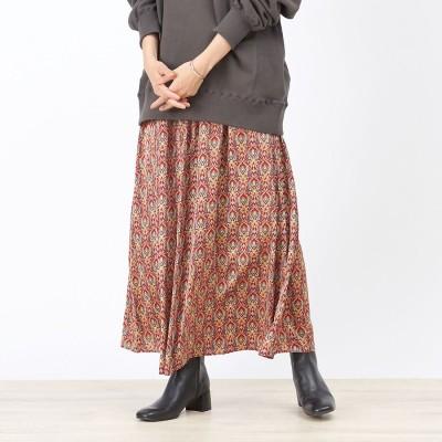 ルージュヴィフ ラクレ Rouge vif la cle 【WEB&一部店舗限定】プリントマキシギャザースカート (レッド)