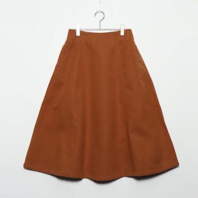 スタイルブロック STYLEBLOCK フェイクウールフレアスカート (キャメル)