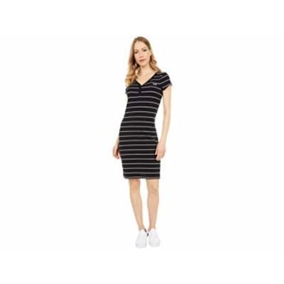 (取寄)バンズ アライ ストライプ ミディ ドレス Vans Ally Stripe Midi Dress Black