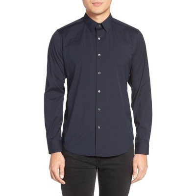 セオリー シャツ トップス メンズ Sylvain Slim Fit Button-Up Dress Shirt Eclipse