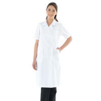 KAZENKAZEN レディス診察衣W型半袖 ドクターコート 医療白衣 ホワイト ダブル 3L 127-30(直送品)
