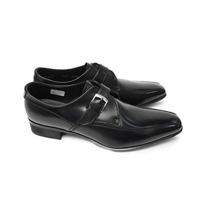 [リーガル] 靴 728R エレガントなメンズビジネスシューズ モンクストラップ 本革 ブラック 26.0cm
