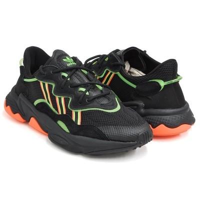 adidas OZWEEGO 【アディダス オズウィーゴ】 CORE BLACK / SOLAR GREEN / HI-RES CORAL
