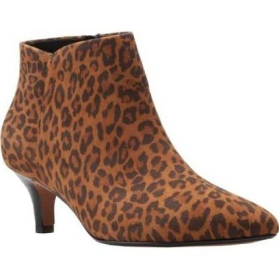 クラークス Clarks レディース ブーツ ショートブーツ シューズ・靴 Linvale Sea Ankle Bootie Dark Tan Leopard