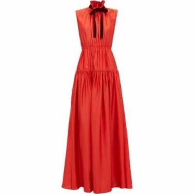 ロクサンダ Roksanda レディース ワンピース ティアードドレス ワンピース・ドレス Giona tie-neck tiered crepe dress Red
